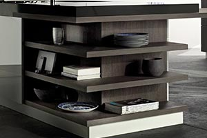 Contemporary Style Kitchen Integrated Shelving