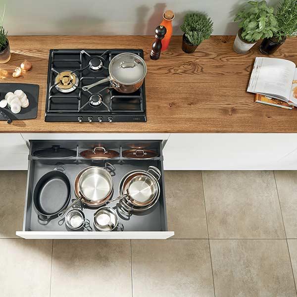 Kitchen Pot And Pan Storage Draw