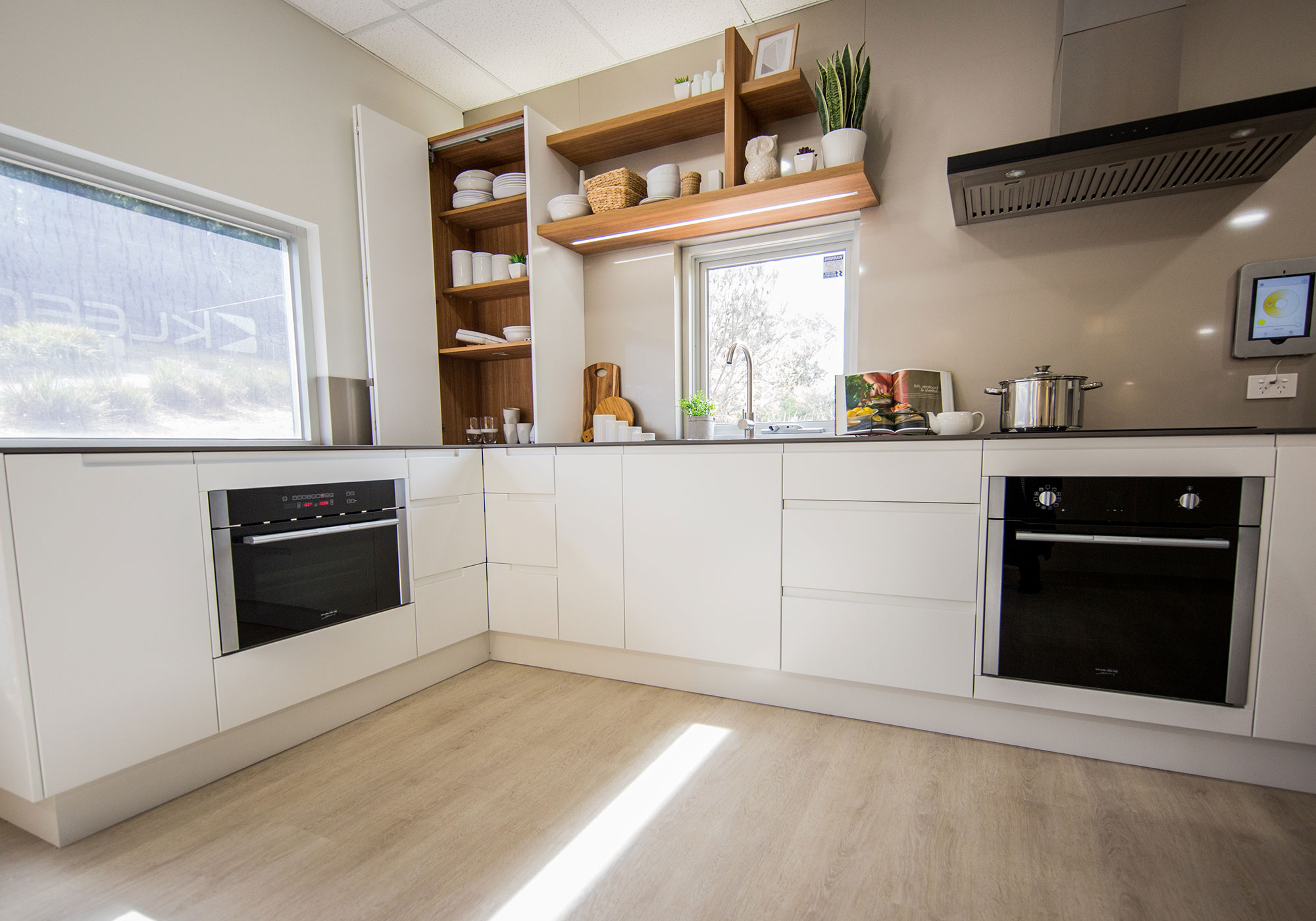 Options available from various kitchens and storage options on display to experience the quality of these new kitchens and cabinets for yourself