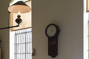 Colonial Style Kitchen Light and Clock