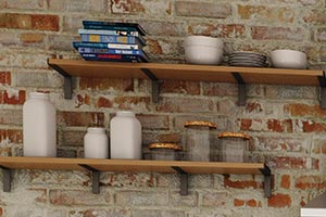 Industrial Style Kitchen Wall Shelves