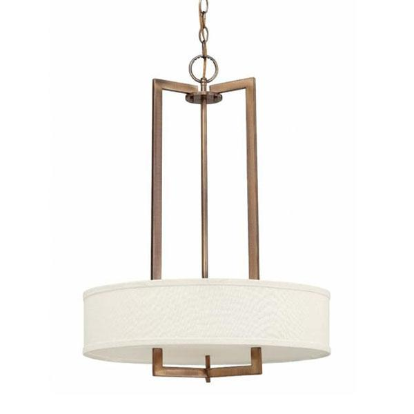 Luxury Rectangular 3 Light Pendant Chandelier