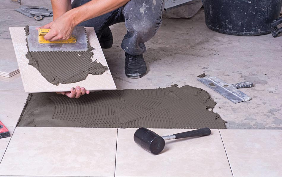 Tiling a kitchen floor