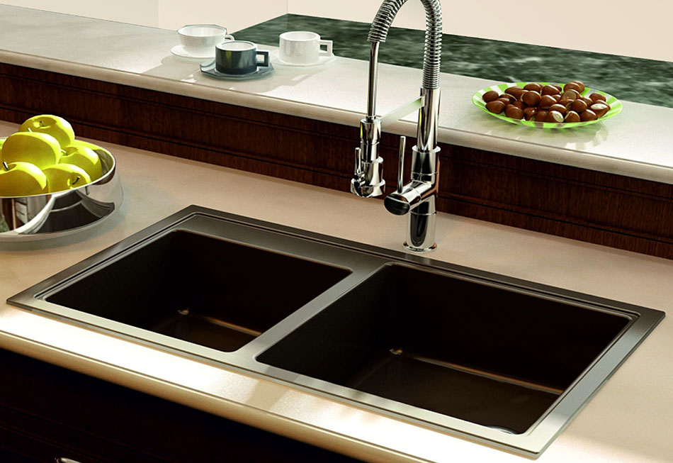 A Rectangular Contemporary Kitchen Sink