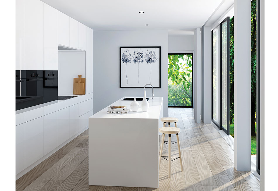 Simple Clean Line Kitchen - Torquay Project