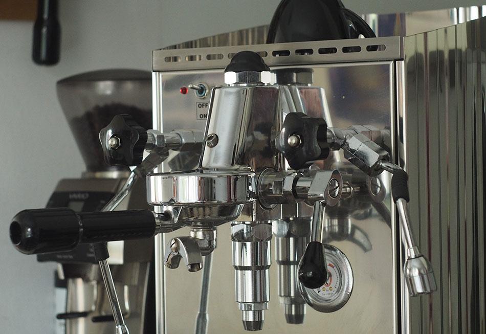 Vintage coffee machine kitchen appliance