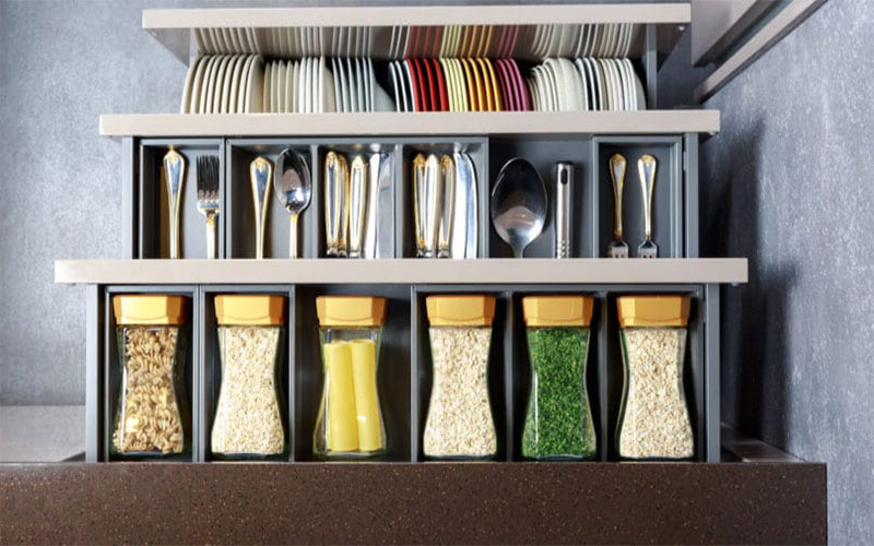 Hidden Storage Minimalist Kitchen
