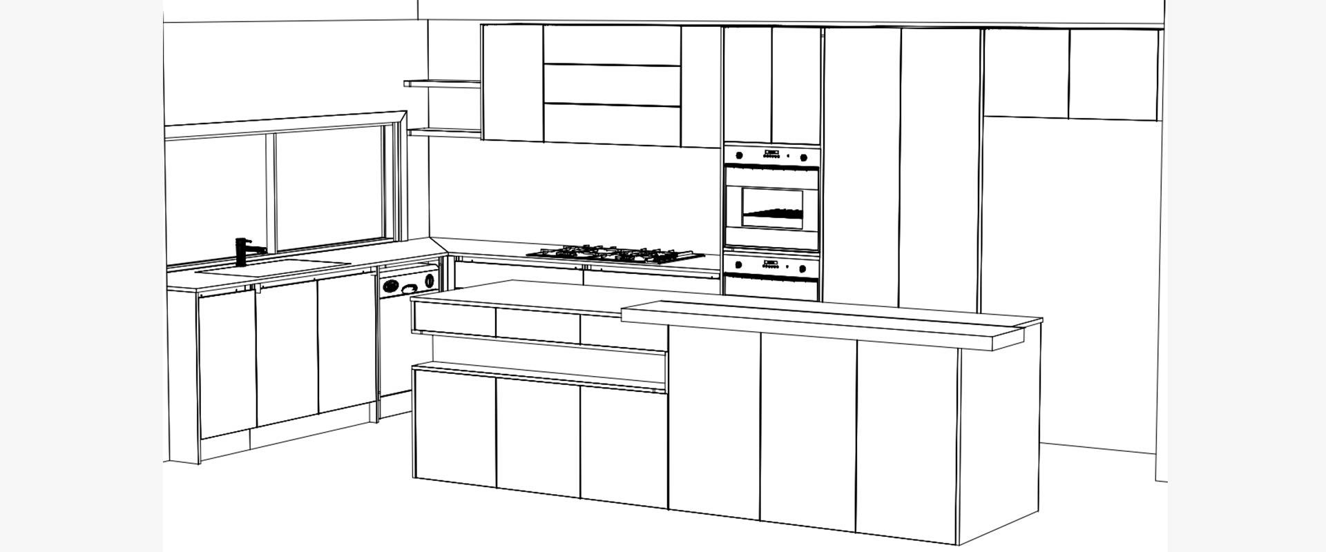 Smythes Creek Kitchen Renovation 4 3D Render