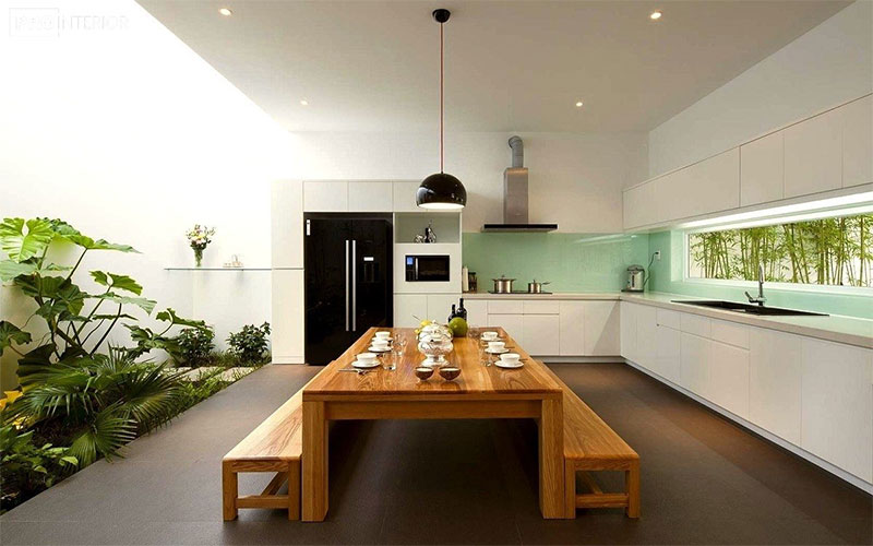 Zen Style Minimalist Kitchen