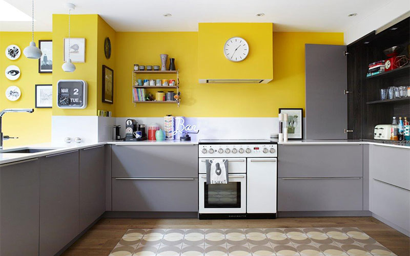 Daring Kitchen Cabinet Colours