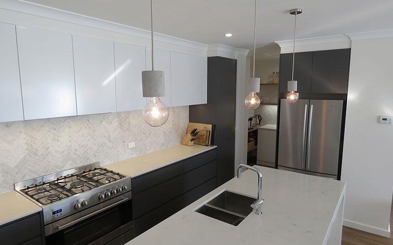 Gray & White Kitchen Cabinet Colours