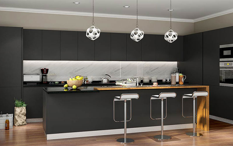 Matte Finishes Kitchen Cabinet Colours