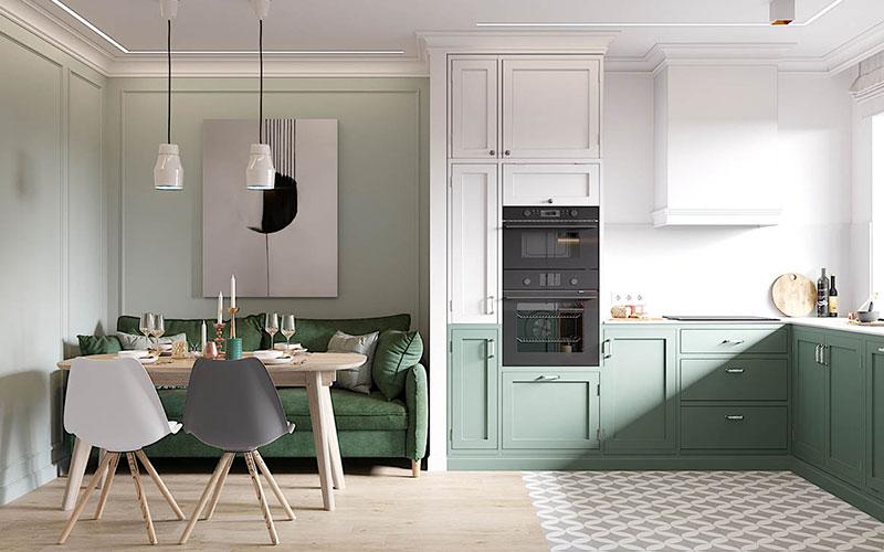 Sea Green Kitchen Cabinet Colour