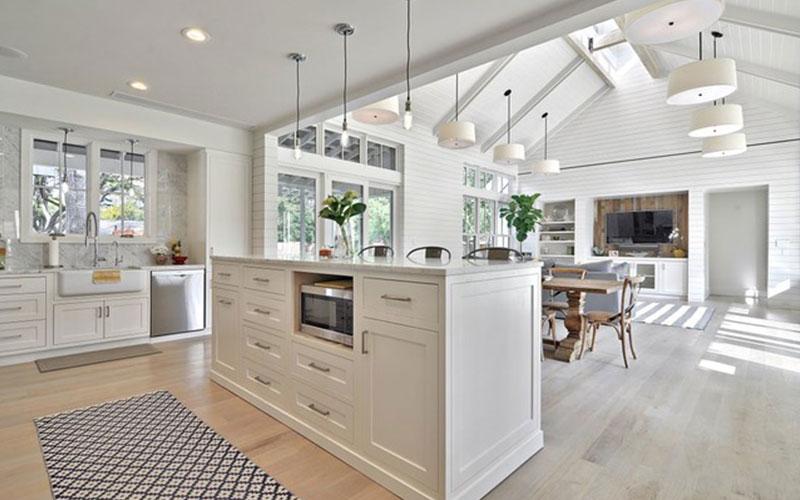 Rectangular Hamptons Kitchen Island