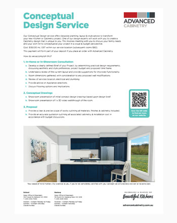 Conceptual Kitchen Design Brochure