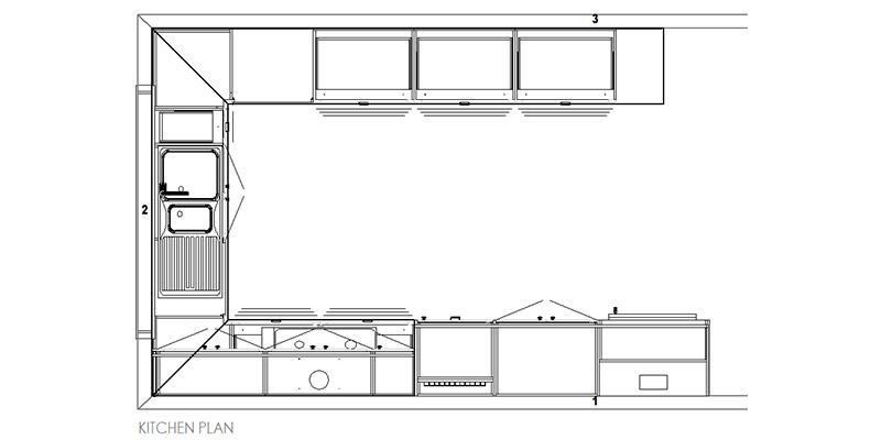 Eclectic Hamptons Yandoit Kitchen Plan
