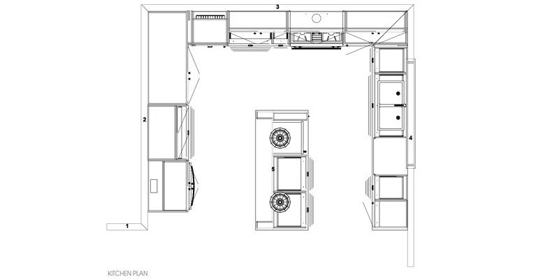 Hamptons - Dales Creek Kitchen Plan