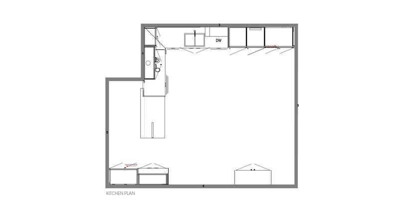 Contemporary Hamptons Portarlington Kitchen Plan